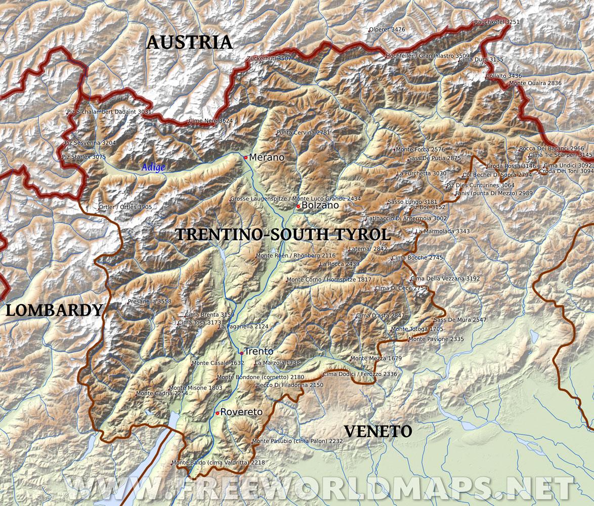 Region of TrentinoAlto Adige Italia Mia