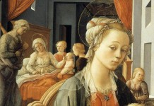 Fra Filippo Lippi - Madonna with_the Child and Scenes from the Life of St Anne (detail)