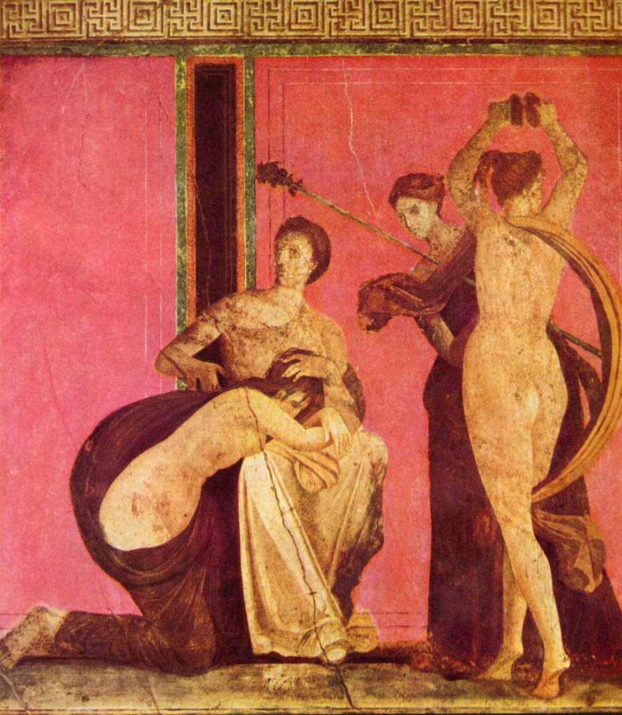Roman fresco, Pompeii