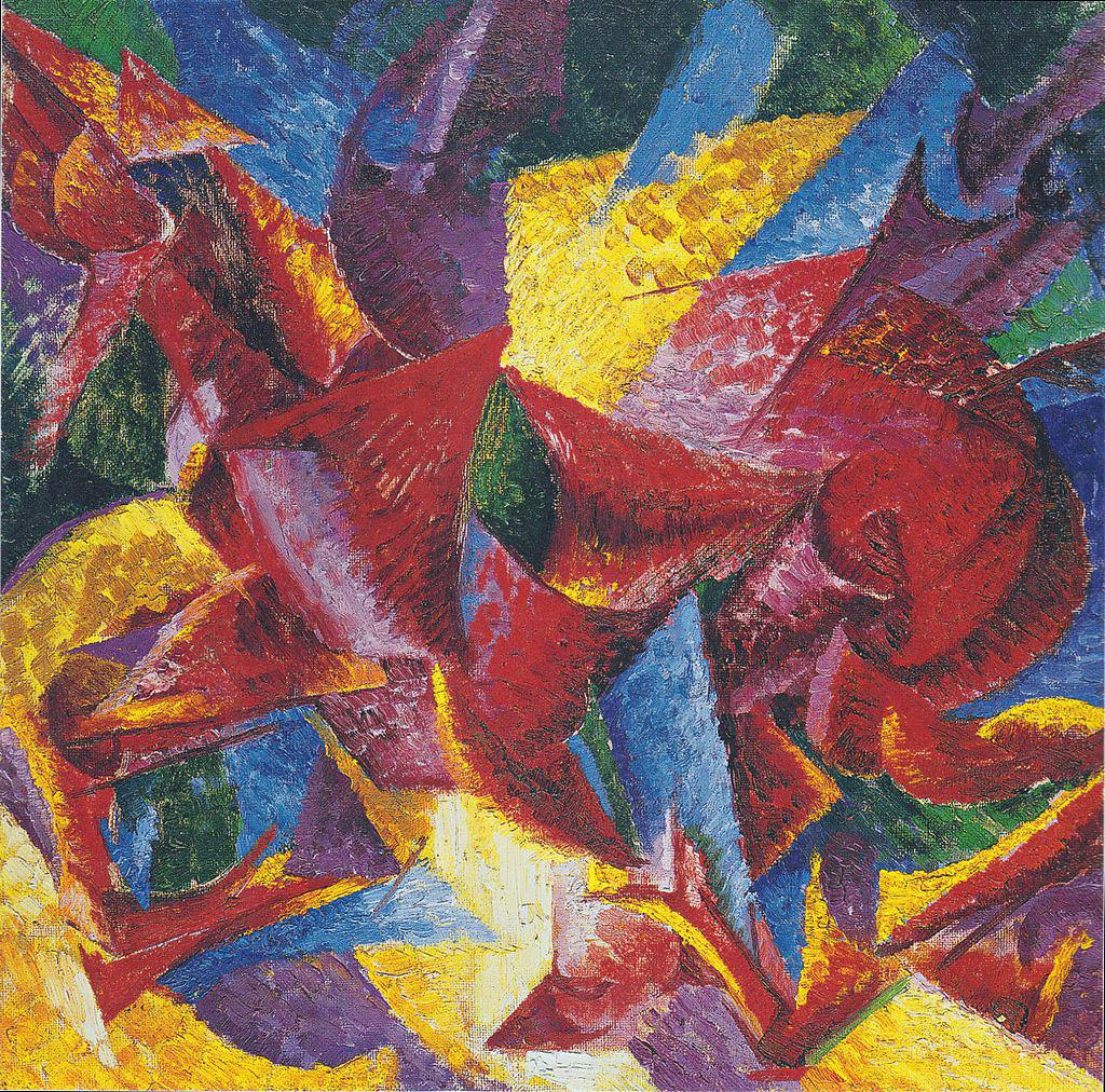 Umberto Boccioni, Plastic Forms (1913/14)
