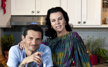 Gabriele Corcos and Debi Mazar of Extra Virgin