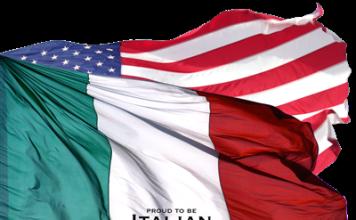 italian american flags