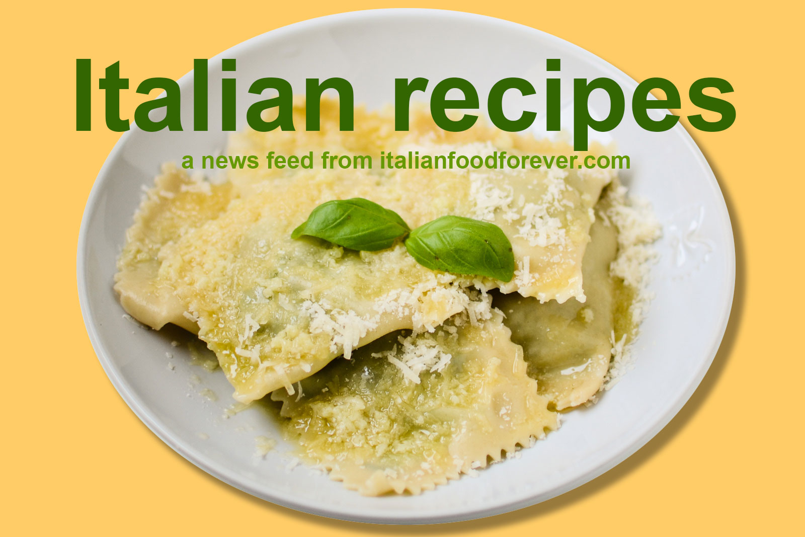 Italian recipes from italia mia for Italian meals