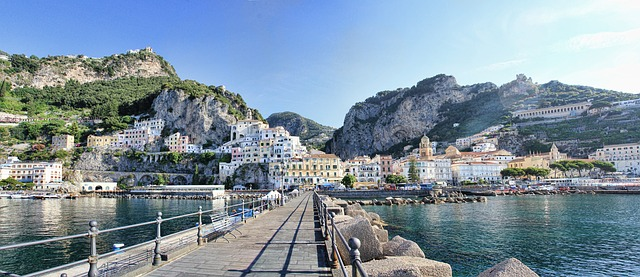 amalfi, italy, port