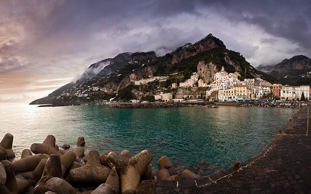 amalfi, sea, seaside town
