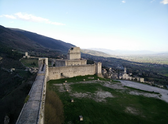 assisi, castle, old building