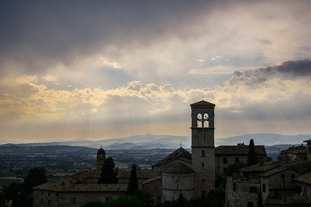 assisi, italy, church