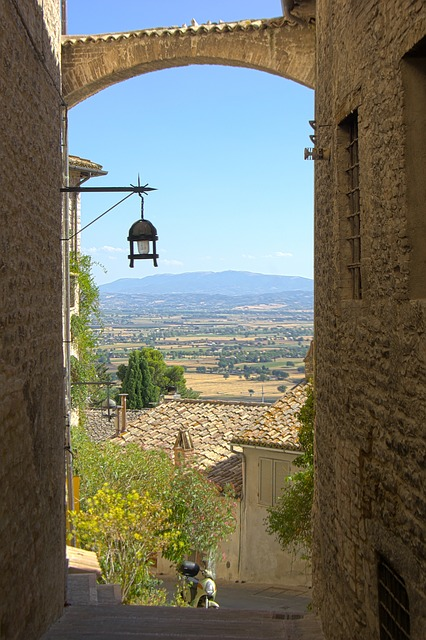 assisi, italy, street