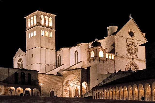 assisi, monastery, church