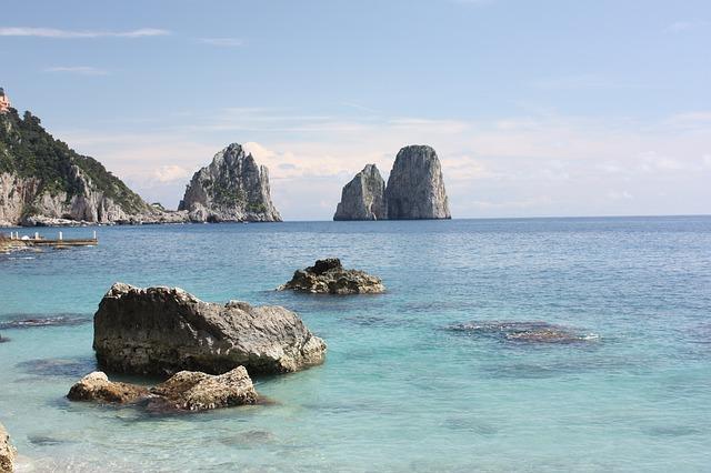 capri, sea, italy