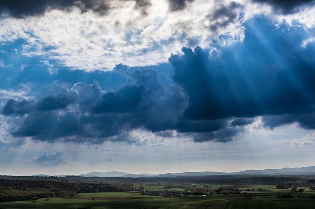 clouds, landscape, panorama