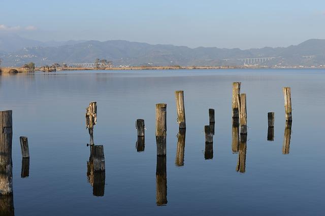 lake, viareggio, italy