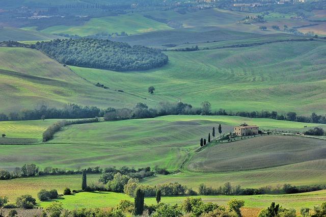 landscapes, green, tuscany