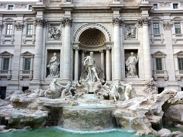 rome, trevi fountain, holiday