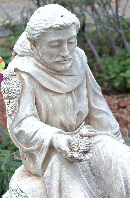 statue, garden art, saint francis of assisi