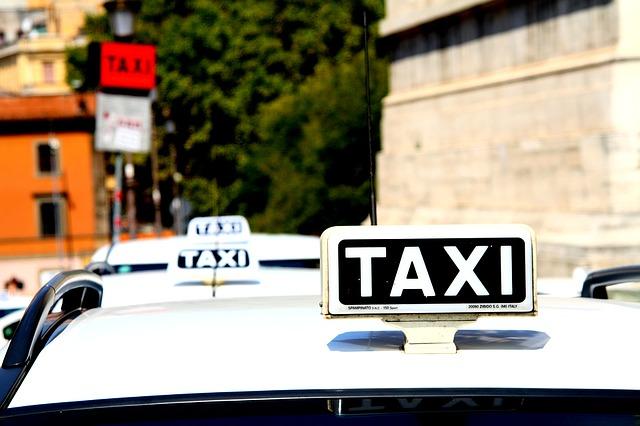 taxi, auto, rome