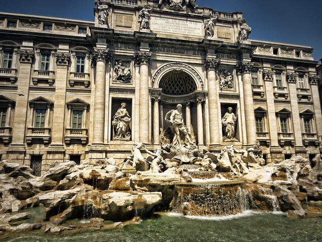 trevi fountain, fontana di trevi, rome