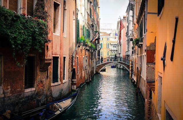 venice, italy, gondolas