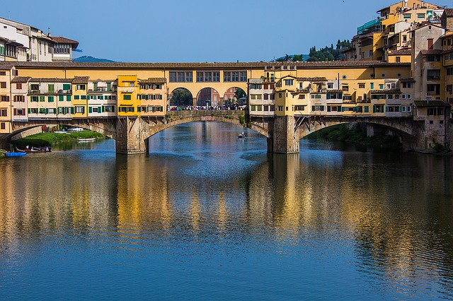 bridge, reflection, florence