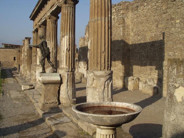 columnar, pool, statue