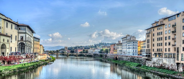 florence, italy, arno river