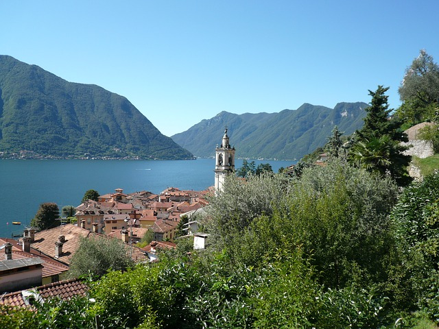 lake como, italy, mountains