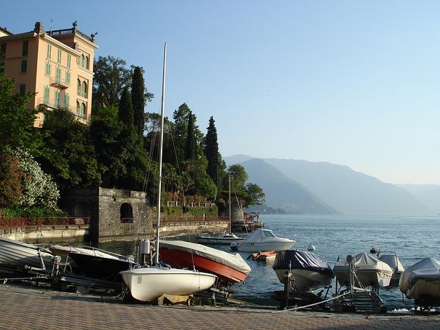 lake como, lake, summer