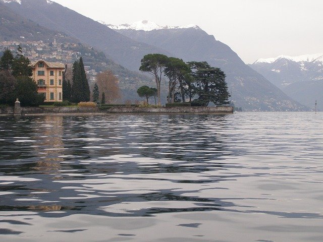 lake como, nature, water