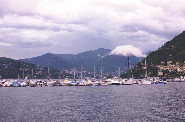 lake, yachts, como
