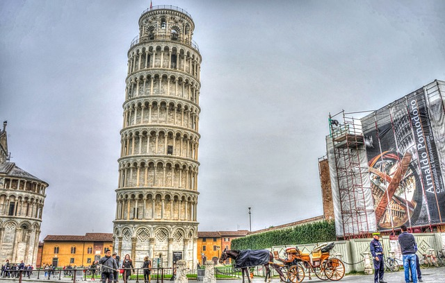 leaning tower of pisa, italy, tuscany