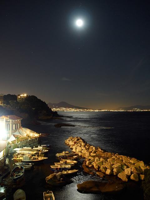 naples, posillipo, night