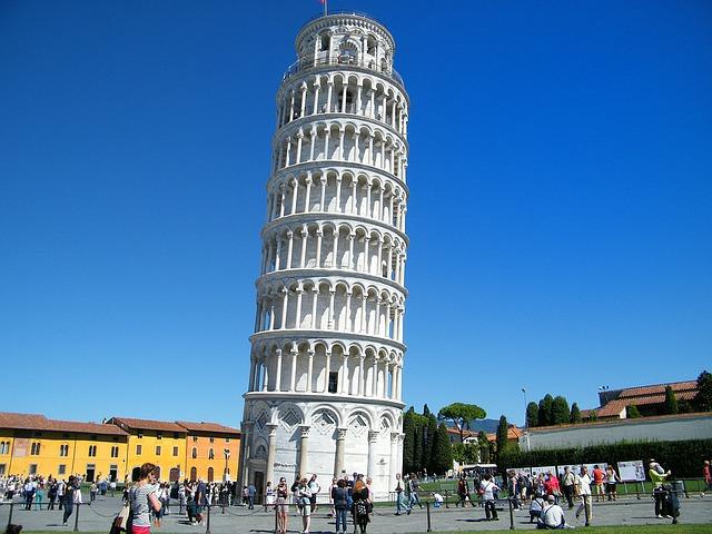 pisa, leaning tower, unintended tilt