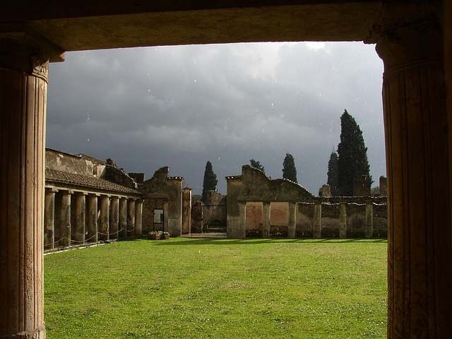 pompeii, rain, ancient