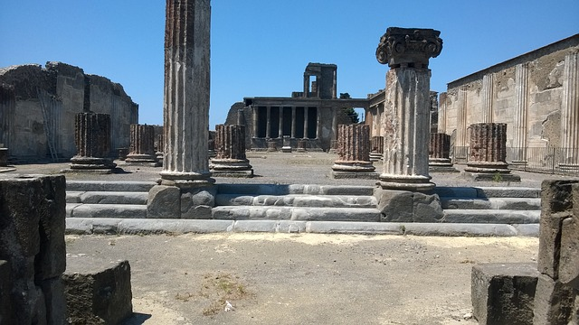 pompeii, ruins, volcano