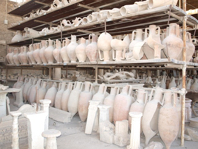 pompeii, vessels, italy ruins