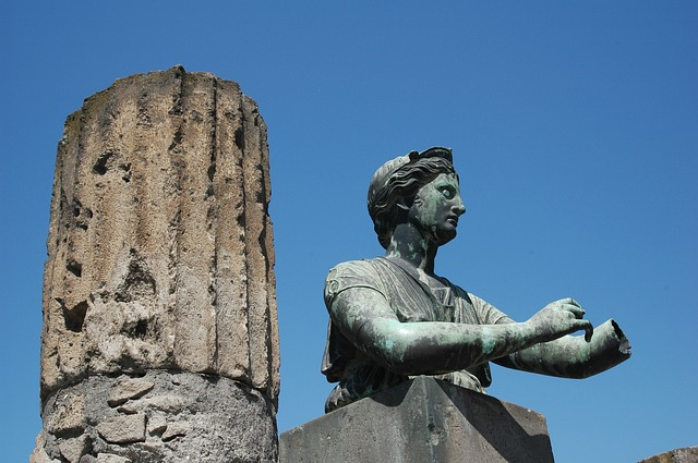 statue, pompeii, travel