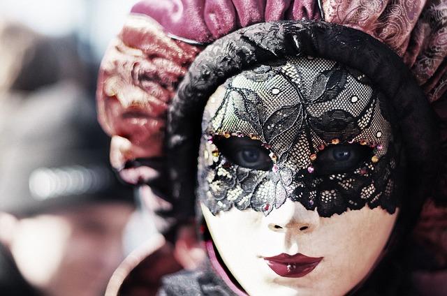 carnival, venice, eyes
