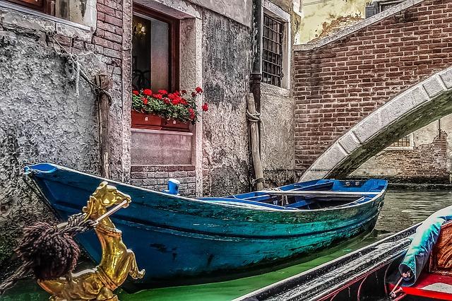 venice, gondola, boat