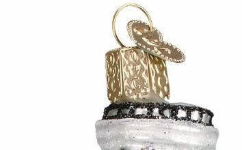 Leaning Tower of Pisa Glass Blown Ornament