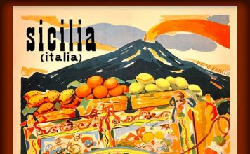 sicilia vintage poster
