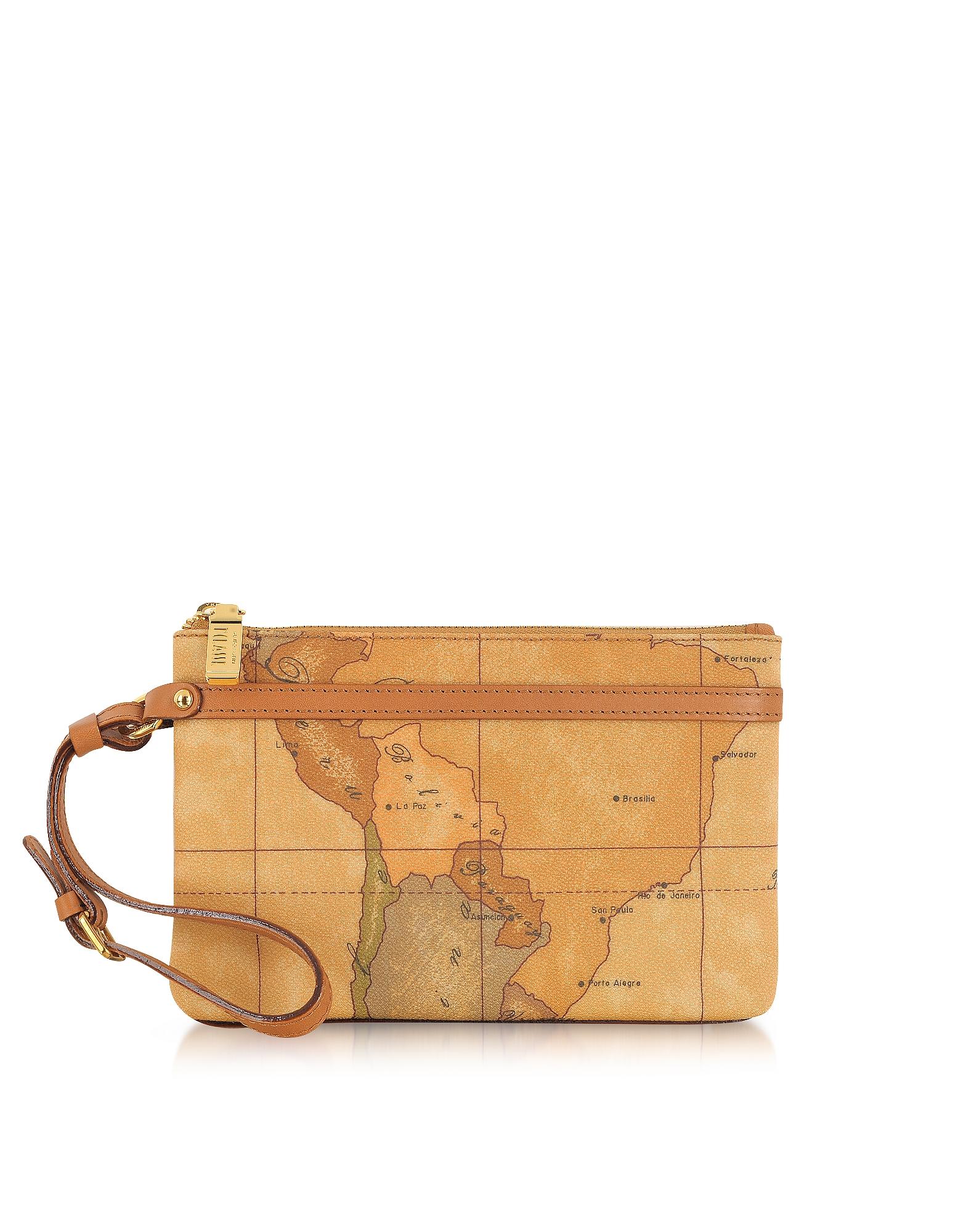 """Alviero Martini 1A Classe Designer Handbags, 1a Prima Classe - Geo Printed Small """"Contemporary"""" Clutch"""