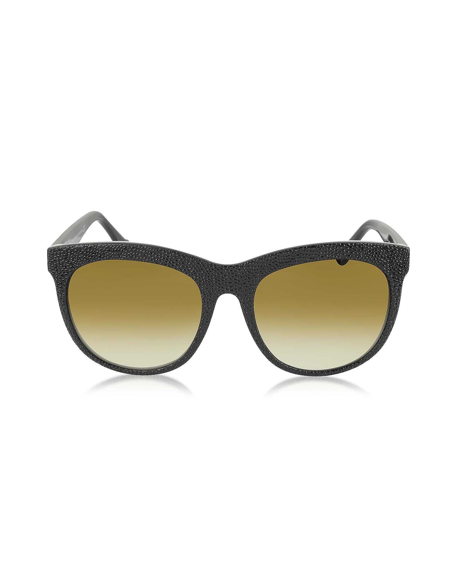 Balenciaga Designer Sunglasses, BA0024 04F Black Rubber & Acetate Cat Eye Sunglasses