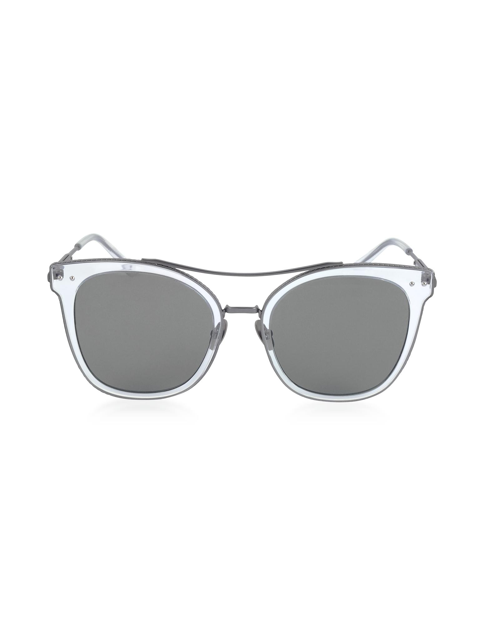 Bottega Veneta Designer Sunglasses, BV0064S Round Metal Frame Women's Sunglasses