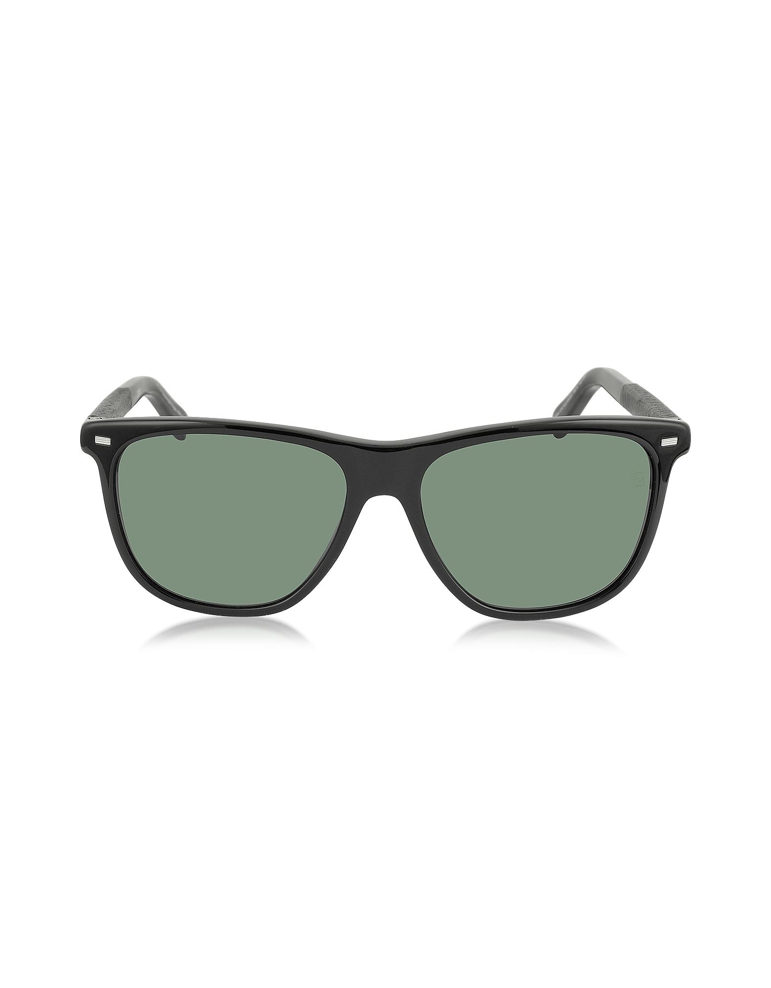 Ermenegildo Zegna Designer Sunglasses, EZ0009 01N Black Polarized Men's Sunglasses