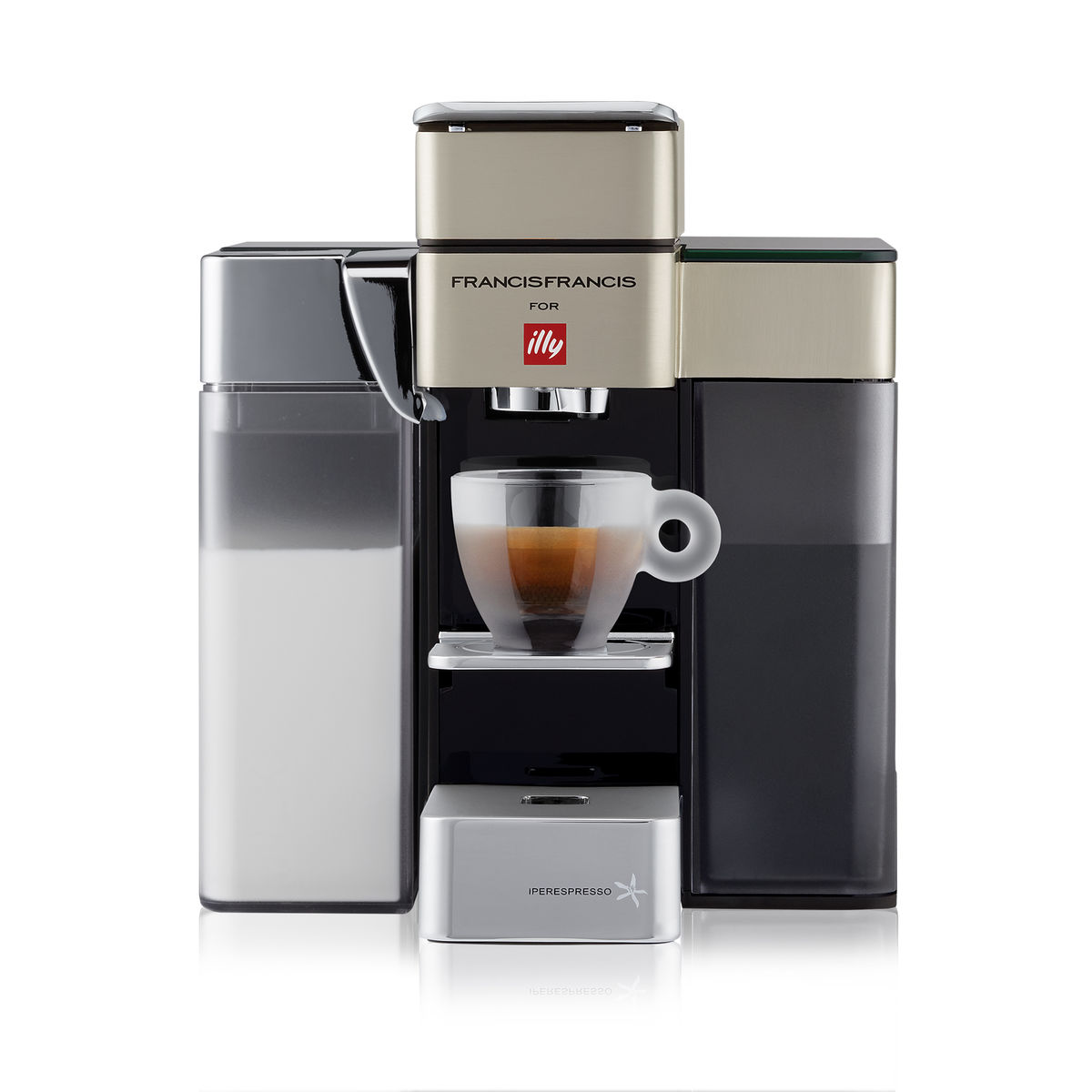 illy Y5 iperEspresso Milk, Espresso & Coffee Machine - Satin