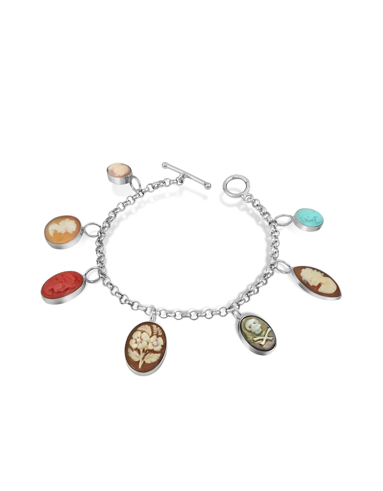 Mia & Beverly Designer Bracelets, Cameo Charm Bracelet