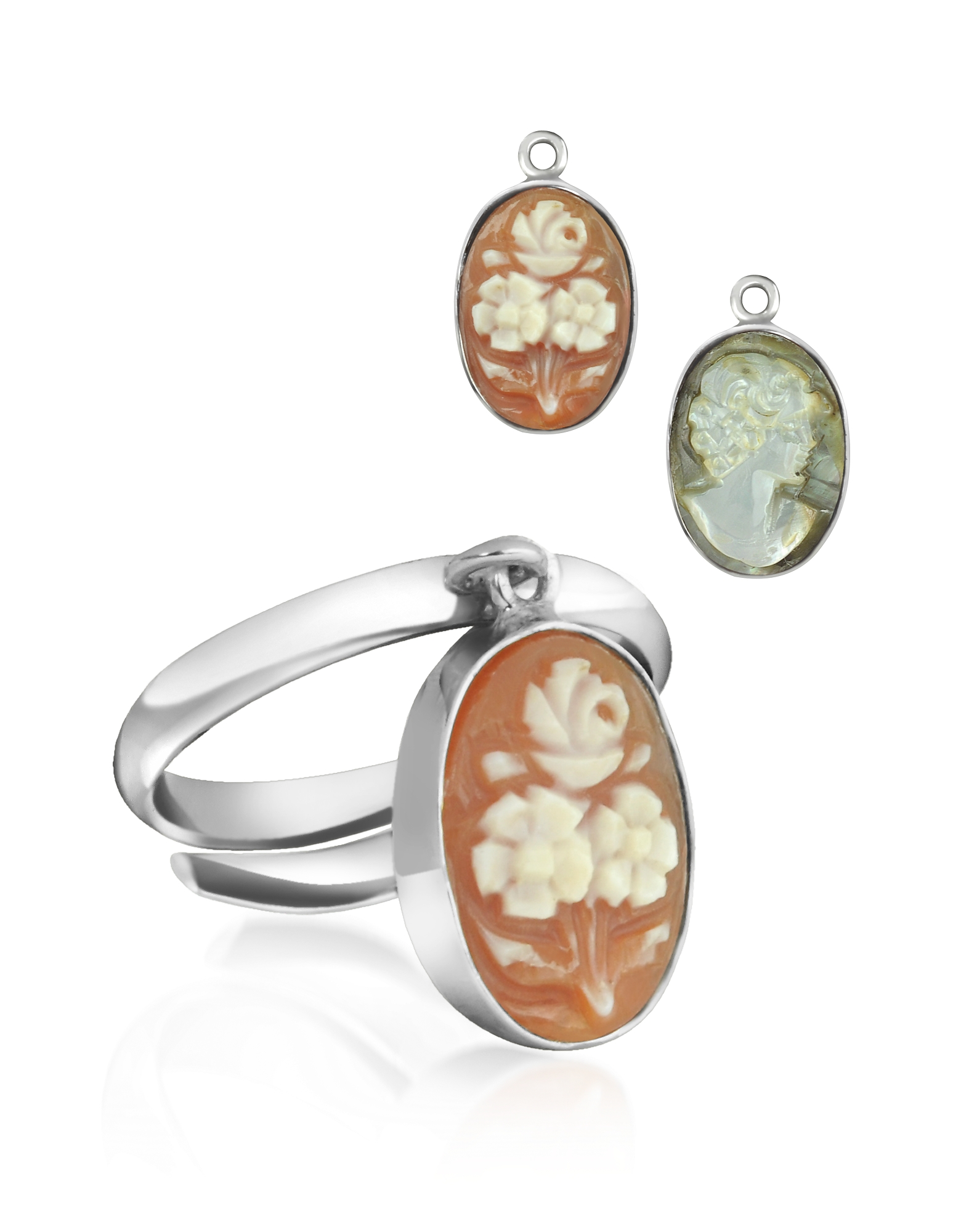 Mia & Beverly Designer Rings, Cameo Charm Ring