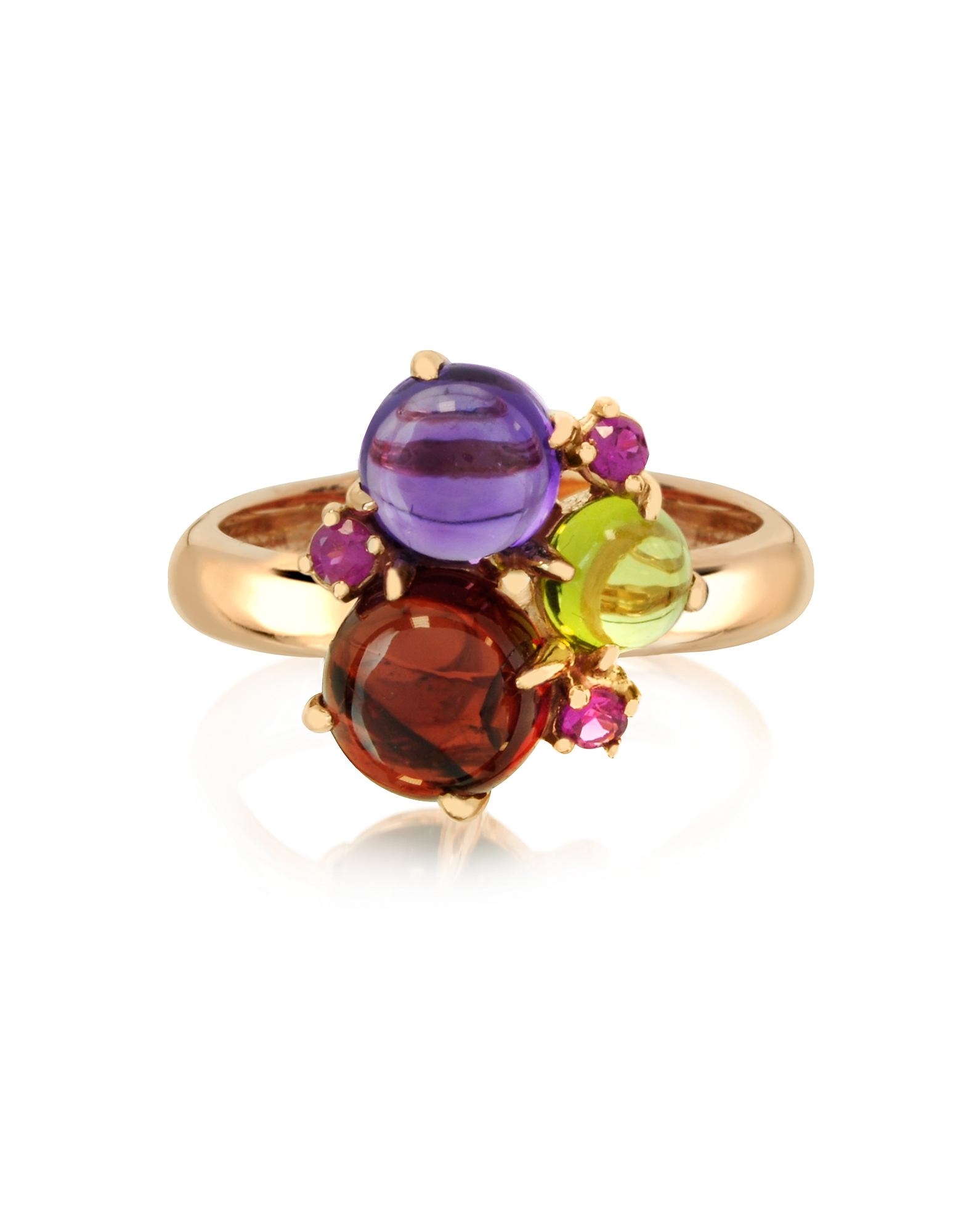 Mia & Beverly Designer Rings, Gemstones 18K Rose Gold Ring