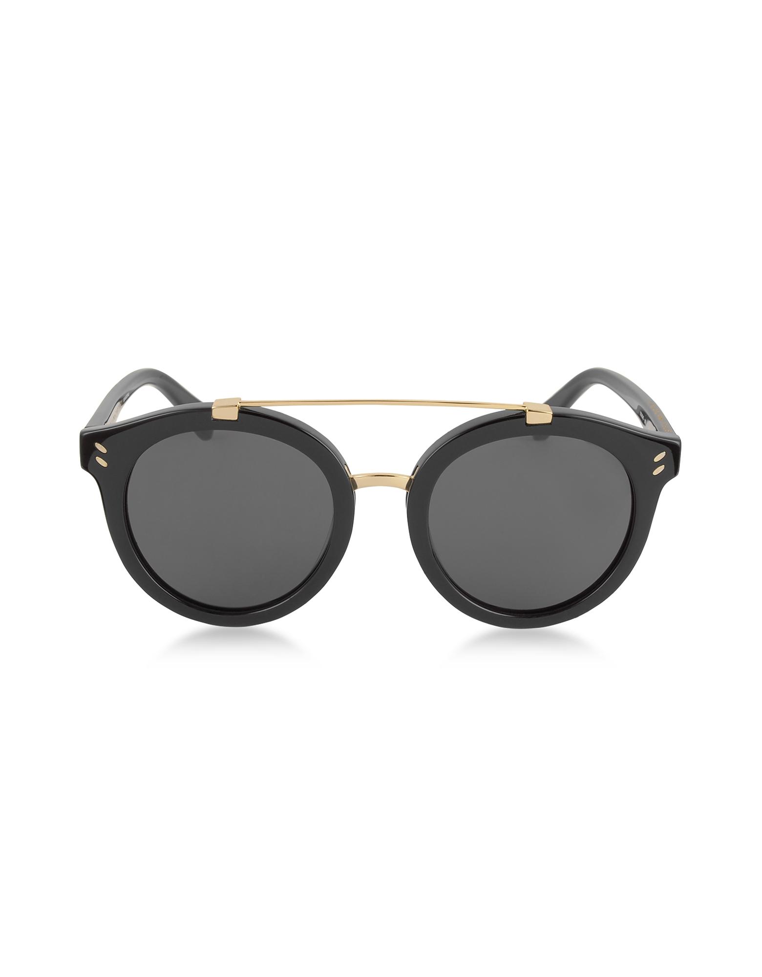 Stella McCartney Designer Sunglasses, SC0054S Round Aviator Acetate Women's Sunglasses